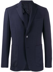 Pal Zileri Fitted Single Breasted Blazer 60