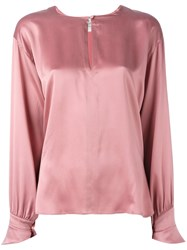 Forte Forte Keyhole Blouse Pink And Purple