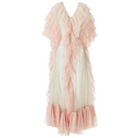 Supersweet X Moumi Tulle Dress In Mint Green And Pink White Green Pink