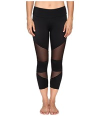 Onzie Black Mesh Cut Out Capris Black Mesh Women's Capri