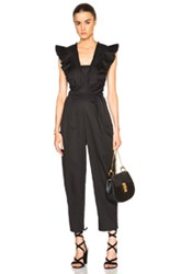 Tibi Pleated Overall Jumpsuit In Black