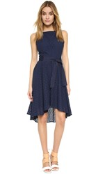 Bb Dakota Lilyana Eyelet High Low Dress Navy