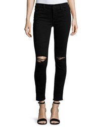 Dl1961 Margaux Instasculpt Skinny Ankle Jeans With Ripped Knees Rattlesnake Black