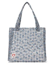 Shrimps Bay Embroidered Pvc Tote Bag Clear Multi