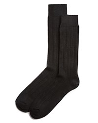 The Men's Store At Bloomingdale's Ribbed Cashmere Socks Black