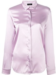 Les Copains Concealed Front Fastening Shirt Pink And Purple