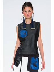 Jamie Wei Huang Batu Leather Tank Black