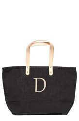 Cathy's Concepts 'Nantucket' Personalized Jute Tote Black Black D
