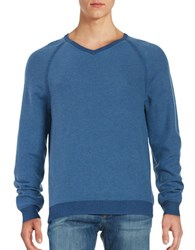 Tommy Bahama Reversible V Neck Pullover Dockside Blue
