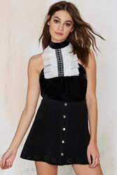 Nasty Gal High Society Tux Ruffle Halter Top