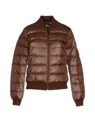 Franklin And Marshall Down Jackets Dark Brown