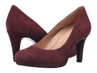 Naturalizer Michelle Bordo Suede High Heels Burgundy