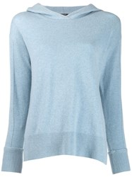 Luisa Cerano Hooded Jumper Blue