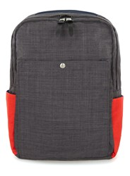 Topman Grey Charcoal Navy And Red Panelled Backpack