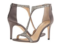 Imagine Vince Camuto Phoebe Storm Grey Plat Crystal Delux Satin Women's Shoes Silver