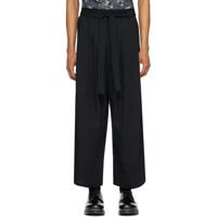 Naked And Famous Denim Ssense Exclusive Black Wide Trousers