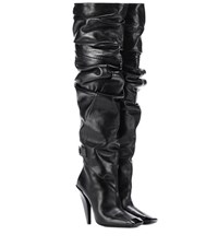 Tom Ford Over The Knee Leather Boots Black