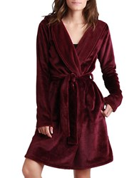 Ugg Hooded Robe Burgundy