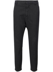 Nili Lotan Drop Crotch Cropped Trousers Black