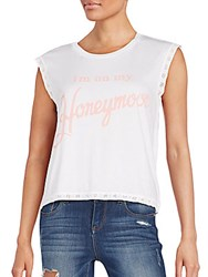 Wildfox Couture Honeymoon Barback Tank Top White