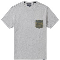 Woolrich Camouflage Pocket Tee Grey