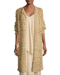 Ralph Lauren Mesh Long Open Cardigan Beige