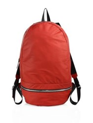 Z Zegna Medium Leather Gym Backpack Dark Red