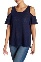 Gibson Cold Shoulder Tee Blue