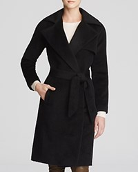 Trina Turk Delaney Alpaca Wrap Coat Black