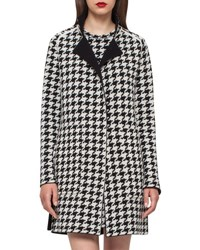 Akris Reversible Houndstooth Cashmere Coat Black Moonstone Black Moonstone