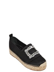 Roger Vivier 40Mm Sequined Cotton Satin Espadrilles