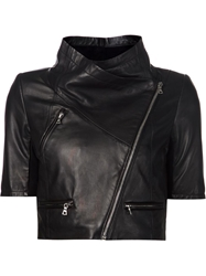 Yigal Azrouel Cropped Leather Jacket