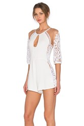 For Love And Lemons Valentina Romper White