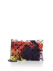 Issey Miyake Soul Multicolor Chain Clutch Silver Multi