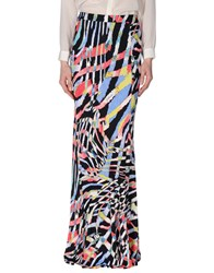 Just Cavalli Skirts Long Skirts Women Coral