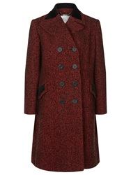 Windsmoor Cambridge Double Breasted Tweed Coat Red
