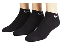 Nike Cotton Cushioned Low Cut With Moisture Management 3 Pair Pack Black White Women's Low Cut Socks Shoes