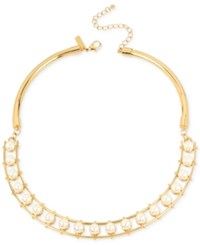 Inc International Concepts M. Haskell For Gold Tone Imitation Pearl Collar Necklace Only At Macy's