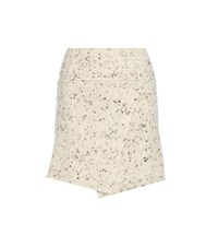 Etoile Isabel Marant Estelle Wool Blend Wrap Skirt White