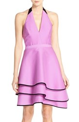 Women's Halston Heritage Cotton And Silk Halter Dress