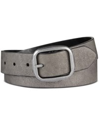Inc International Concepts Metallic Textured Reversible Belt Only At Macy's Black