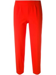Piazza Sempione Cropped Trousers Women Cotton Spandex Elastane 48 Red
