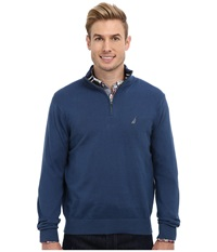 Nautica 12Gg Solid 1 4 Zip Jersey Sweater Ensign Blue Men's Sweater