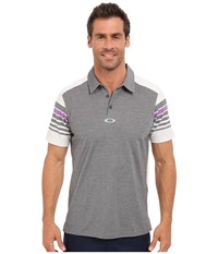 Oakley Wyatt Polo Heather Grey Men's Short Sleeve Pullover Gray
