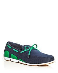 Swims Breeze Braided Lace Mesh Loafers Navy