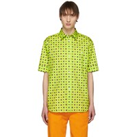 Kenzo Yellow Medallion Slim Fit Shirt