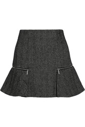 Michael Michael Kors Herringbone Tweed Mini Skirt Black
