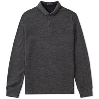 Fred Perry Long Sleeve Double Face Polo Grey