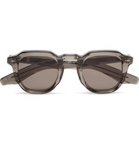 Jacques Marie Mage Ripley Round Frame Acetate Sunglasses Gray
