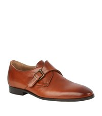 Kurt Geiger London Lorenzo Leather Monk Shoe Male Tan